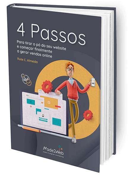 Ebook 4 passos para tirar o pó do seu website